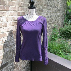 Maurices Blouse Purple Size Large